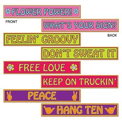 *4 Shagadelic 60's STREET SIGN DECORATIONS*Austin Powers*Hippie*