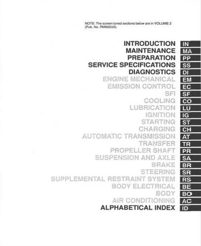 1999 Lexus LX 470 Shop Service Repair Manual Book Engine Drivetrain OEM