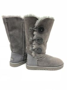 7df92999337 Details about Ugg Australia Bailey Button Triplet Triple Button 1873 Grey  Gray Tall Boots