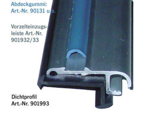 3,80€//m Gummidichtung  27x11mm //m  für Ecken und Eckkederschienen