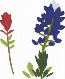 Blue-Bonnet-Flower-Quickutz-4x4-034-Thin-Metal-Die-C-0172-S-REV-NEW