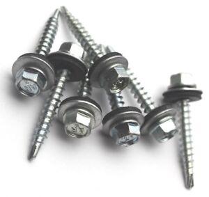 Trapezblech Schrauben Bohrschrauben 4,8 x 50 mm 500 Stück RAL 0000 verzinkt