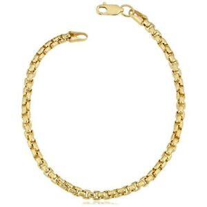 10k-Yellow-Gold-Miami-Cuban-Box-Link-Bracelet-For-Men-Women-Gold-Bracelet