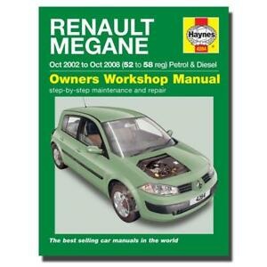haynes manual renault megane petrol diesel 52 58 car workshop rh ebay co uk renault megane cabriolet workshop manual download renault megane cabriolet workshop manual