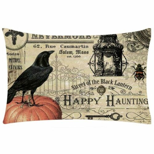 Pillow Cover Happy Halloween Rectangle Cushion Cover Home Decorative Cheap