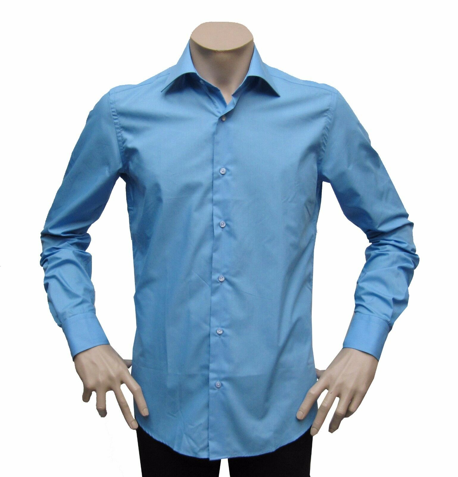 Slim-fit Hemd extra lange Arme 74 cm Gr.3XL Dunkelblue