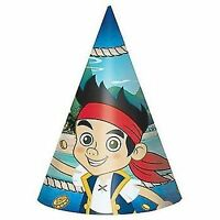 Jake And The Never Land Pirates 8ct Birthday Hats Party Supplies Decor Favors