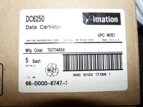 5 NEW Imation 250MB QIC-150 Data Tape Cartridges SLR QIC DC6250 46157 Fac SEALED