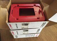 Lot Of 3 System Sensor Spectra Alert Bbs Red Back Box Skirt. Fire Alarm.