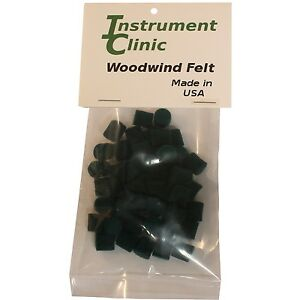 "Saxophone Felt Bumpers, 5/16"" x 3/8"" Green, Pack of 50, Made in USA!"
