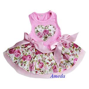 Valentine&amp039s Day Light Pink Rose Flower Heart Party Dress ...