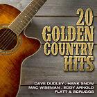 CD 20 Golden Country Hits d'Artistes divers avec Dave Dudley, Hank Snow
