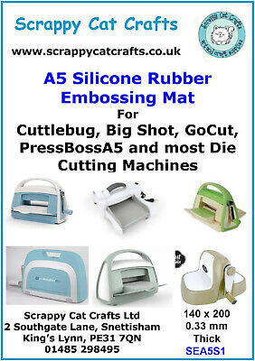 SEA6N1  5 A6 Natural Rubber Embossing Mat for Cuttlebug /& Similar