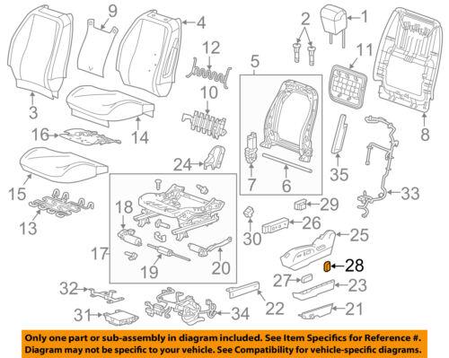 GM OEM Seat Track-Recline Knob 15889530
