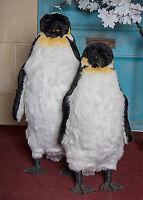 Large Furry Penguin Christmas Decoration Figure Lifesize