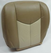 2003 2004 2005 2006 GMC Yukon Front Driver Bottom Leather Seat Cover 2 Tone Tan