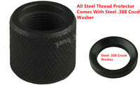308 All Steel Thread Protector,5/8x24 Pitch Thread,.936 With Crush Washer