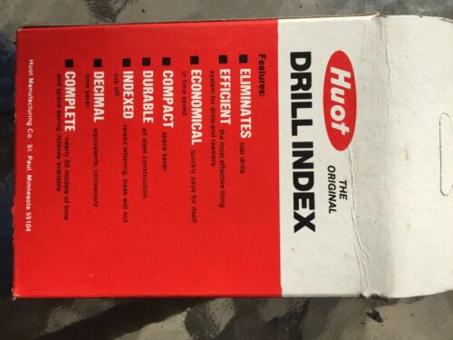 Drill Index for Wire Gauge Drills N. 1 through 60 made by Huot