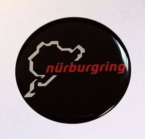 Nurburgring sticker//autocollant-Diamètre 110 mm Brillant en Forme de Dôme Gel Finition