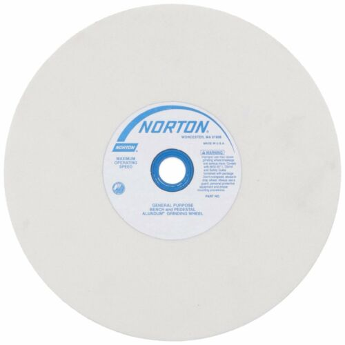 150G AO T1 6x3//4x1 NORTON 07660788248 Grinding Wheel White