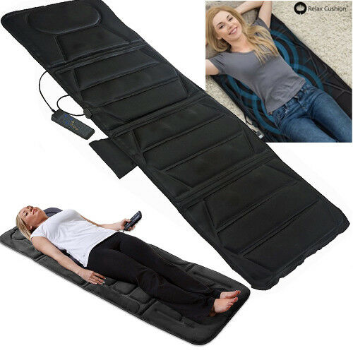 FULL-BODY-HEATED-MASSAGER-FOLDABLE-MAT-MASSAGE-MUSCLE-RELIEF-STRESS-TENSION-NEW