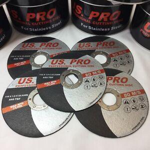 5-X-Metal-Cutting-Slitting-Disc-Ultra-Thin-115mm-4-1-2-034-X-1mm-fast-stainless