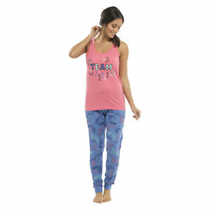 Details about Ladies Character Pj s Full Length Vest Top Leggings Pyjama  Set Lounge Wear Pants c7e0a5a9e