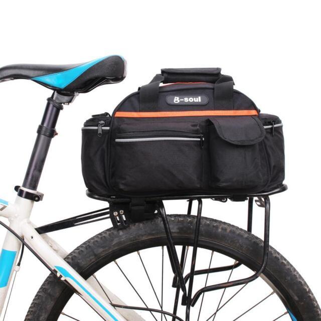 15l Radfahren Fahrrad Fahrrad Rear Seat Rack Storage Trunk Tasche Reise Handtasche guter Zustand