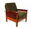 topline furniture calantha oak mission chair,olive microfiber*distressed pkg*new