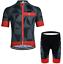 GWELL Herren Radtrikot Atmungsaktive Fahrradbekleidung Set Trikot Kurzarm Radh