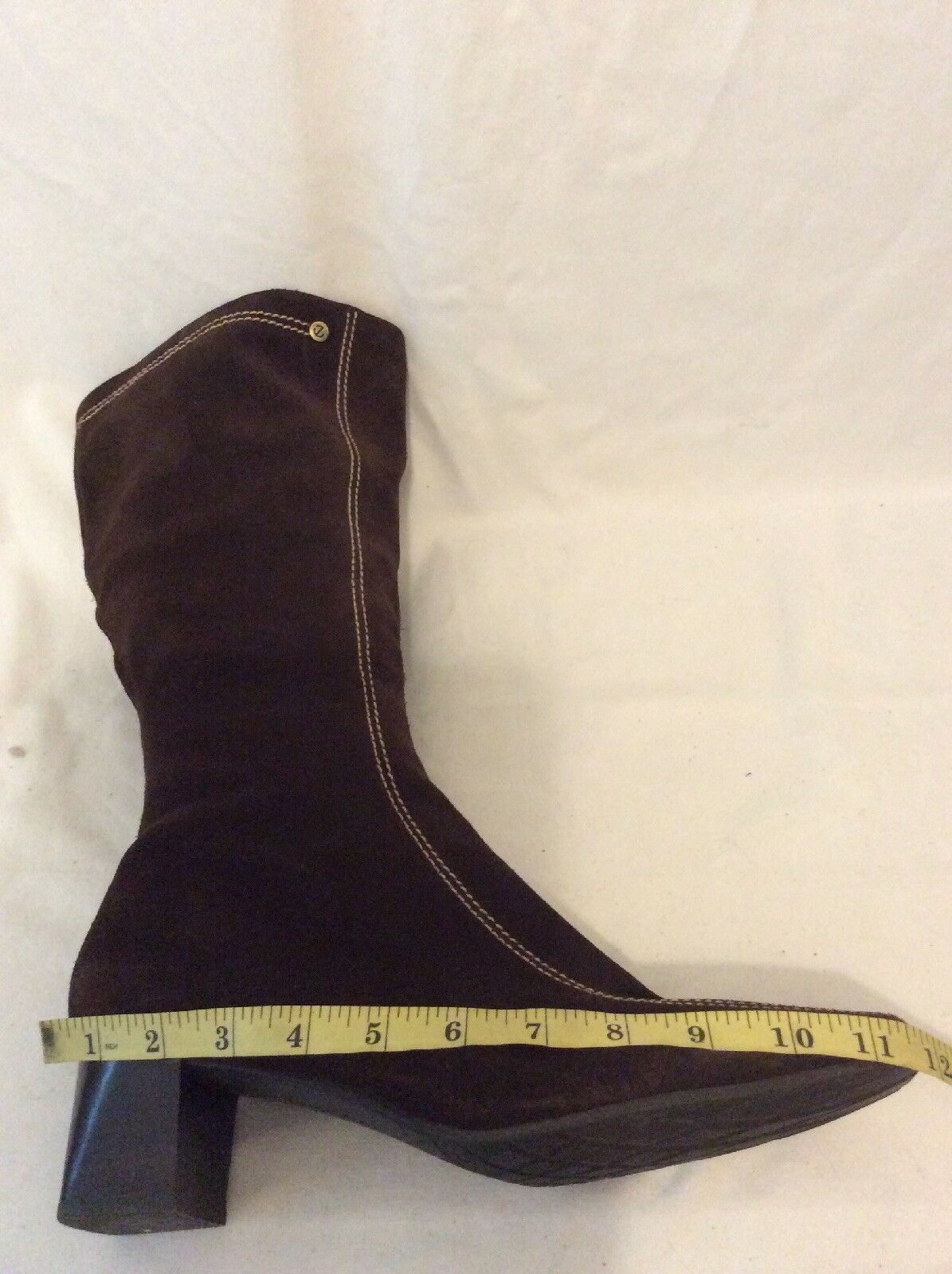 Ecco Brown Mid Calf Suede Boots Boots Boots Size 42 800518