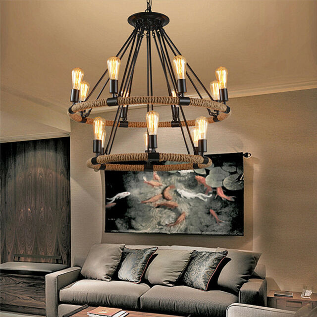 Vintage Chandelier Lighting Living Room Ceiling Lights Kitchen Bar Classy Living Room Pendant Light