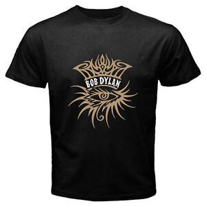 New Bob Dylan Singer Songwriter Eye Logo Men/'s Black T-Shirt Size S-3XL