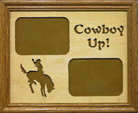 Cowboy Up / Cowgirl Up Photo Mat - Bronco Rider