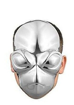 Chrome Alien Plastic Face Mask