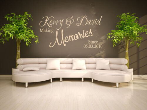 """/""""Making Memories../"""" Wall Sticker,Modern Decal, Couple PERSONALISED  Wall Quote"""