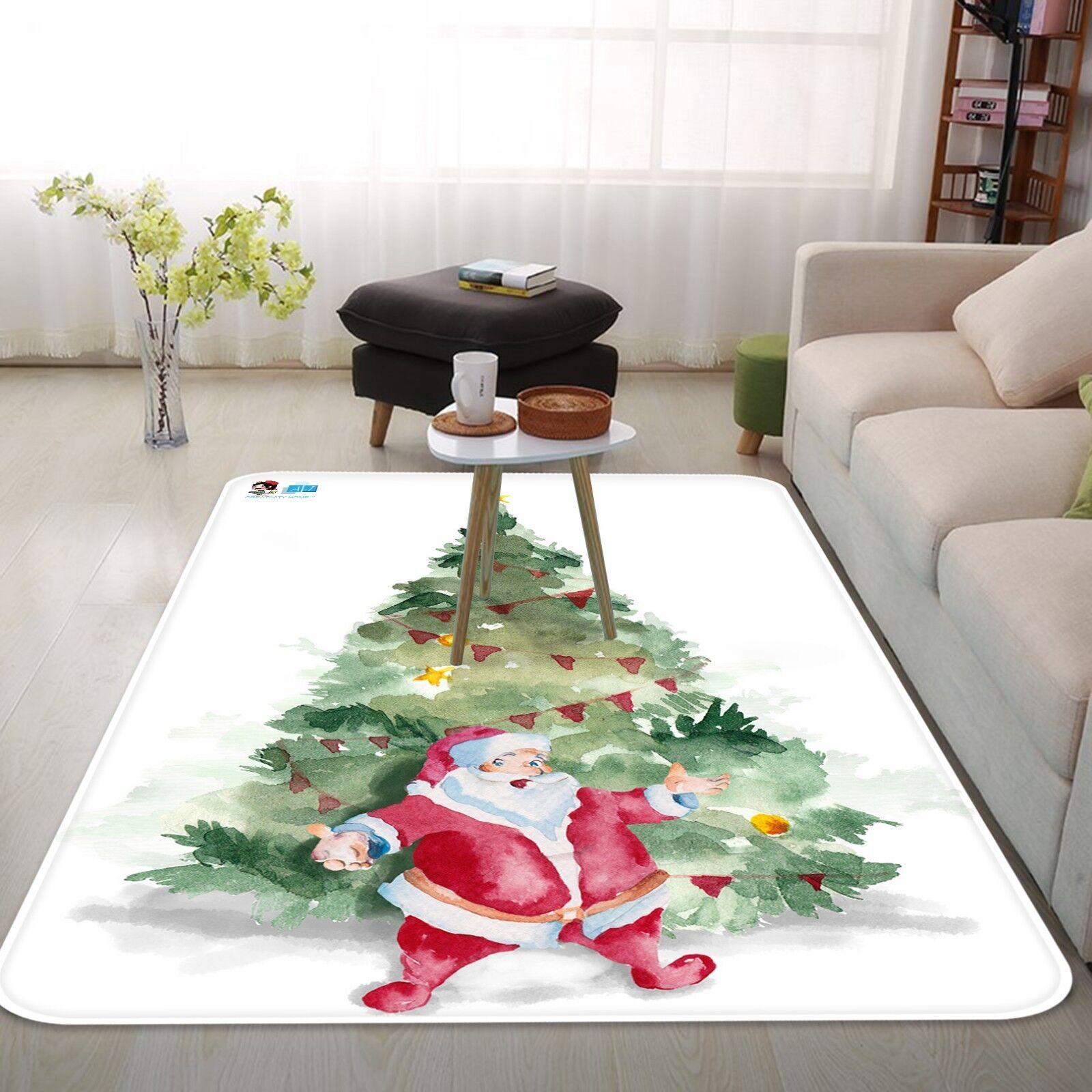 3D Christmas Xmas 90 Non Slip Rug Mat Room Mat Quality Elegant Photo Carpet AU