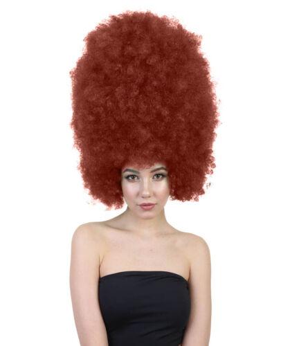 Adult Dark Auburn Super Size Jumbo Afro Wig Mardi Grass Sport Costume HW-1579A