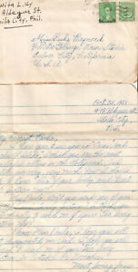 Details about Philippines 1951 cover & letter Benita Uy Iloilo to actress  Paula Raymond MGM