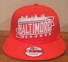 finest selection c5fe8 ac596 Baltimore Orioles City Skyline New Era 9Fifty Snapback Hat Cap Orange