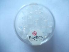 Rayher Swarovski Kristall-Schliffperlen 25 Stück 6 mm weißopal Bastelperlen