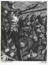 DON QUICHOTE - Werner LUFT 1940 - Die SCHLACHT im WIRTSHAUS - Handsigniert