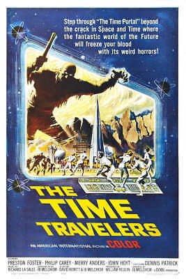 1964 THE TIME TRAVELERS VINTAGE SCIENCE FICTION MOVIE POSTER PRINT 24x16 9 MIL