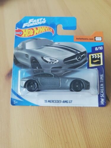 Hot Wheels 15 Mercedes AMG GT Fast /& Furious 8//10 1:64 107//250 2019 Mattel