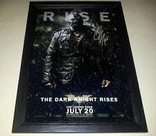 "THE DARK KNIGHT RISES SIGNED & FRAMED 12""X8"" POSTER BATMAN BANE TOM HARDY"