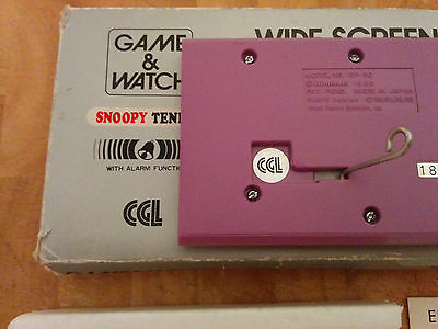 1982 CGL NINTENDO GAME & WATCH **Snoopy Tennis** boxed!!-RARE Include batteries