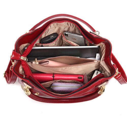 Women Litchi Grain Handbag Soft Leather Lady Casual Tote Messenger Shoulder Bag