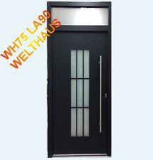 WeltHaus-türen Haustür WH75 Aluminium mit Kunststoff  Tür LA 90 mit Oberlicht
