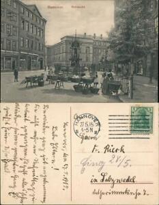 Ansichtskarte Hannover Verkaufsstände & Treiben, Personen am Holzmarkt 1915