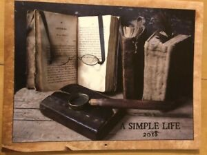 A SIMPLE LIFE ***NEW 2018 CALENDAR *JILL PETERSON *ANTIQUES PRIMITIVE FARMHOUSE